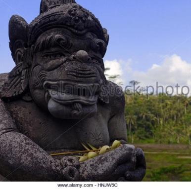 HanumanBustStoneStatue